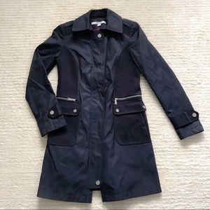 DKNY navy military style trench coat